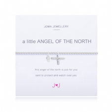 Joma Jewellery A Little ANGEL OF THE NORTH Silver Plated Beaded Bracelet
